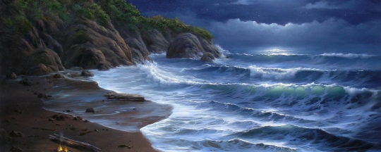 coast_sea_waves_moon_fire_art_46083_2560x1024